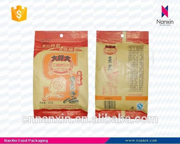 foil lined kraft paper sunflower seeds packaging back seal bag
