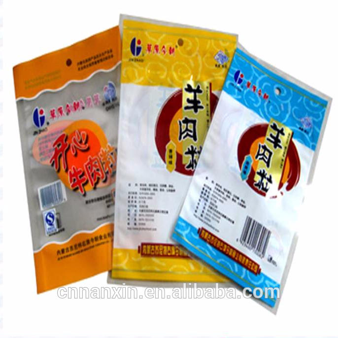 custom logo transparent dried food snack packaging bag heal seal food packaging bag