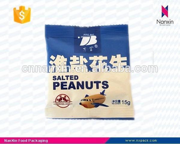airline food peanuts packaging back seal bag