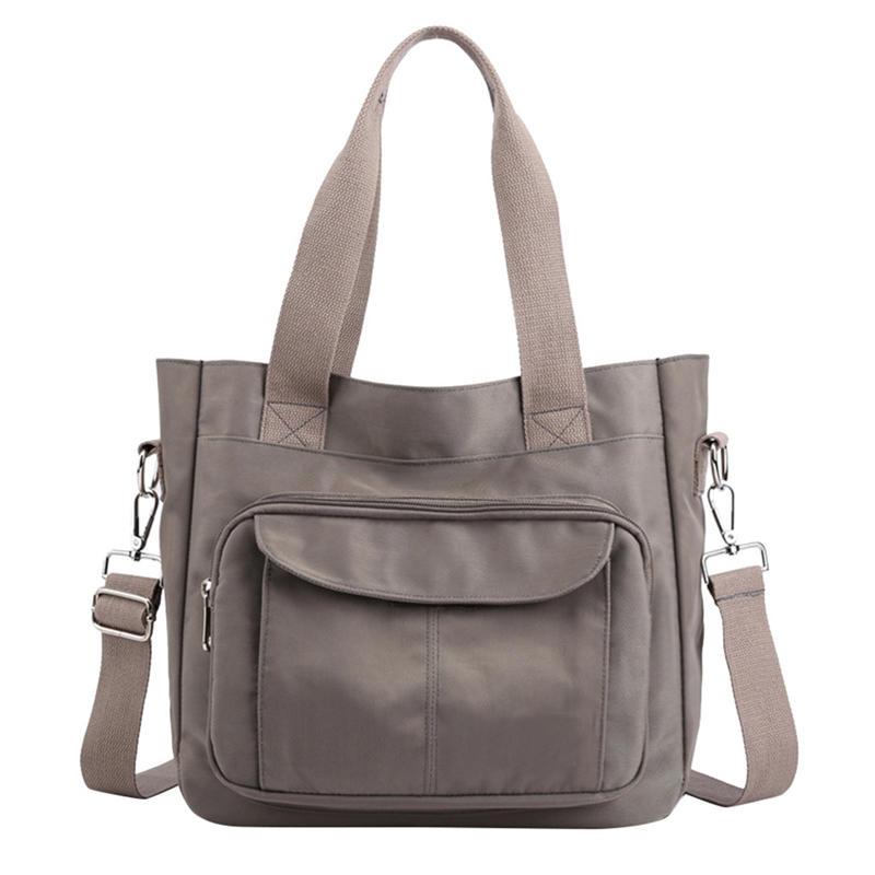 2020 New Women bag Solid Women's canvas Handbags Luxury Lady Hand Bags Purse Pocket Women messenger bag Big Tote canvas bag