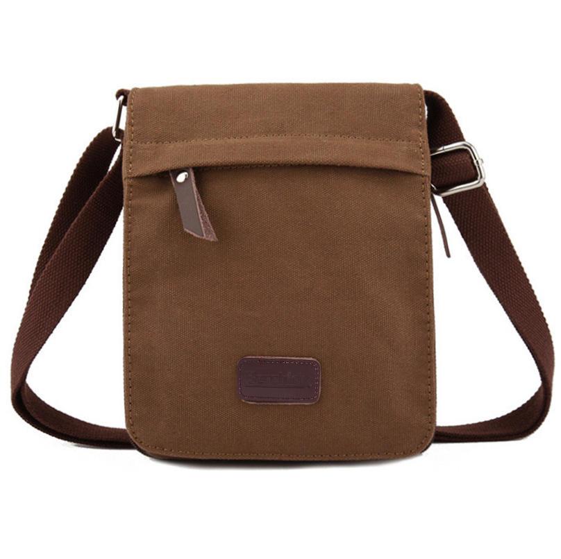 Hot sell New Canvas Bags Men Messenger Bags Vintage Men's Shoulder Crossbody Bags Man Coffee/Green Small Bag Designer Handbags
