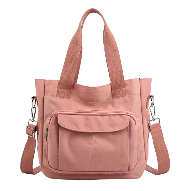 2020 New Women bag Solid Women's canvas Handbags Luxury Lady Hand Bags Purse Pocket Women messenger bag Big Tote canvas bag