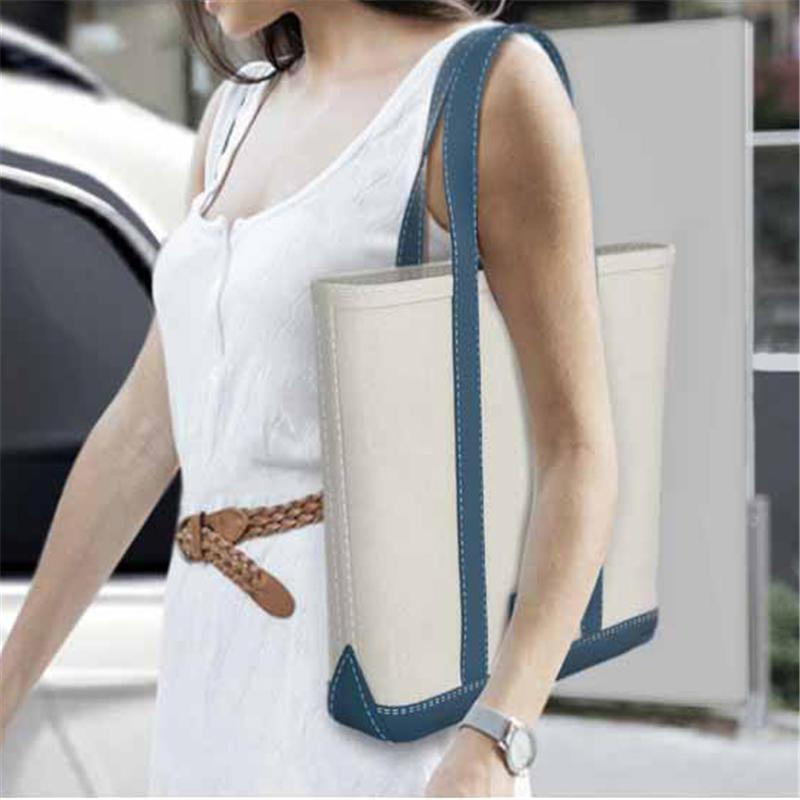 Luxury Handbags Women Bags Designer New Canvas Bag Handbag Wild Art Simple Korean Shoulder Compartment Casual