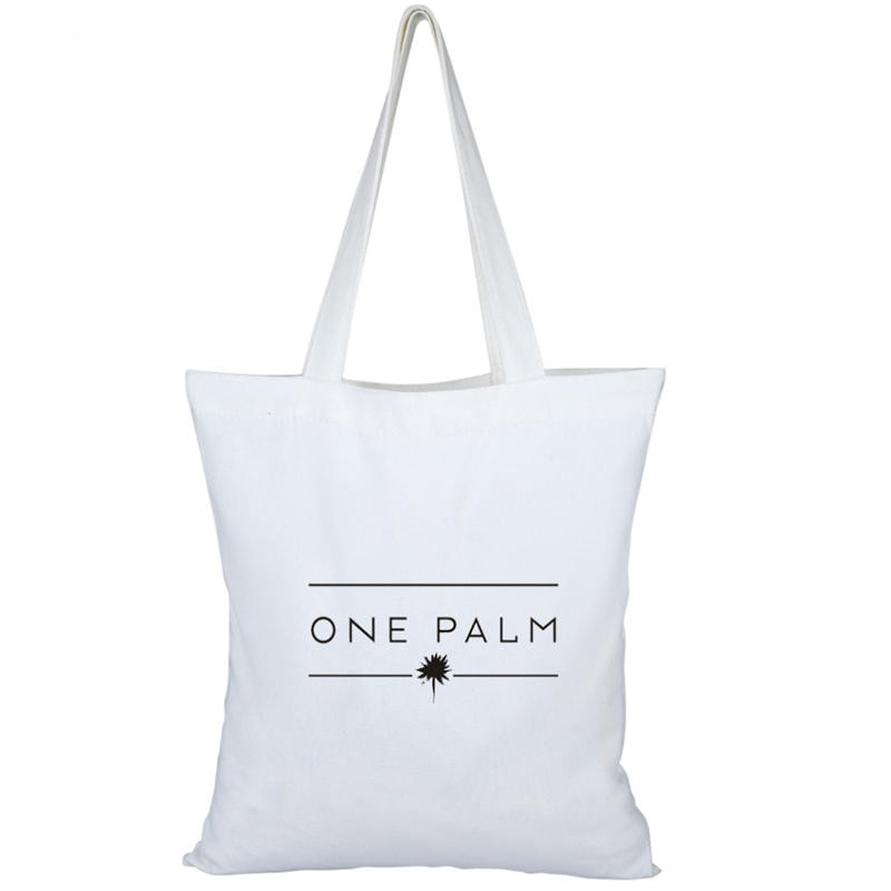 long handle eco friendly Natural color reusable grocery bags 8 oz cotton canvas bags custom printing logo