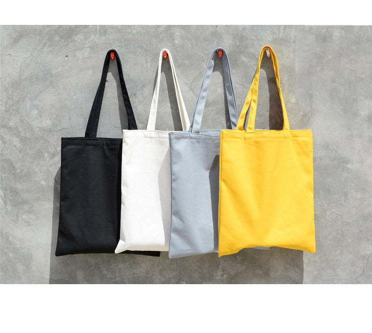 Newest Women Solid Canvas Casual Tote Shoulder Bags for Girls CustomEco friendly Shopping Bag
