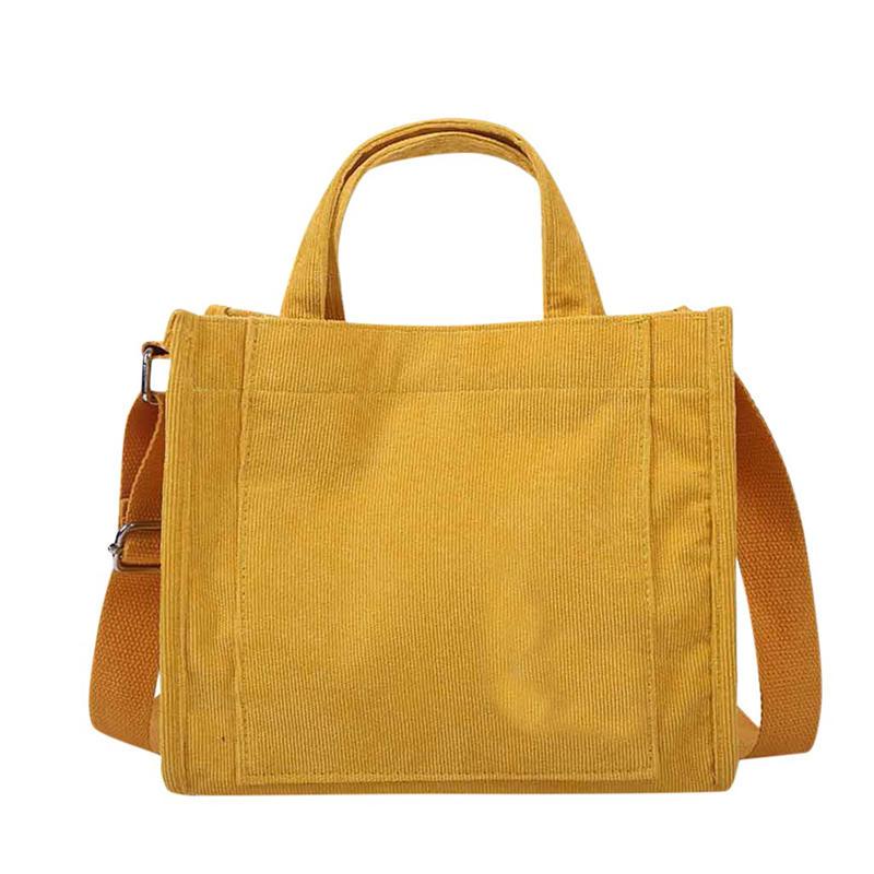 2020 New high quality Women's Cross body Bag Simple Canvas Bag Corduroy Handbag Fashion Casual Shoulder Messenger Bag Torebki