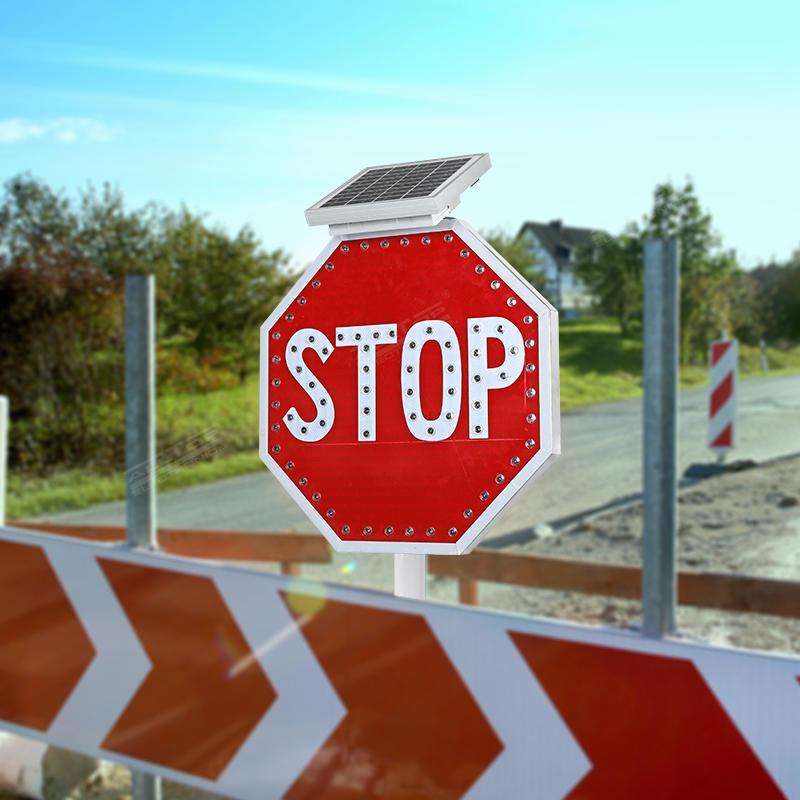 ALLTOP Hot sale aluminium traffic solar led road warning sign led traffic sign
