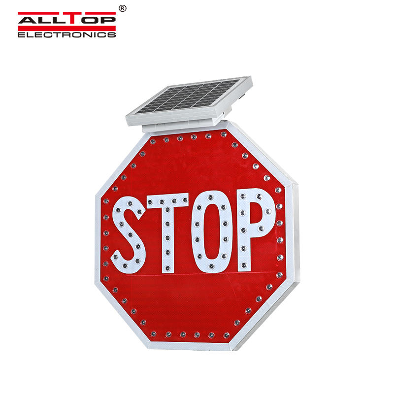 ALLTOP Hot sale aluminium traffic solar led road warning sign led traffic sign