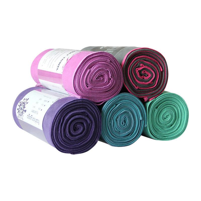 Custom logo Yoga Professional anti slip blanket solid color fitness mat washable and sweat absorbing yoga mat