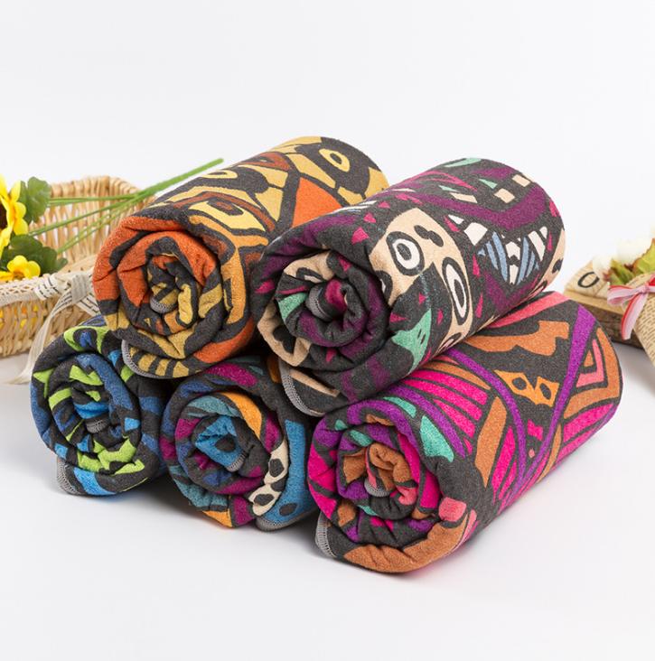 Popular Custom Multi color Microfiber fabric Suede yoga mat towel