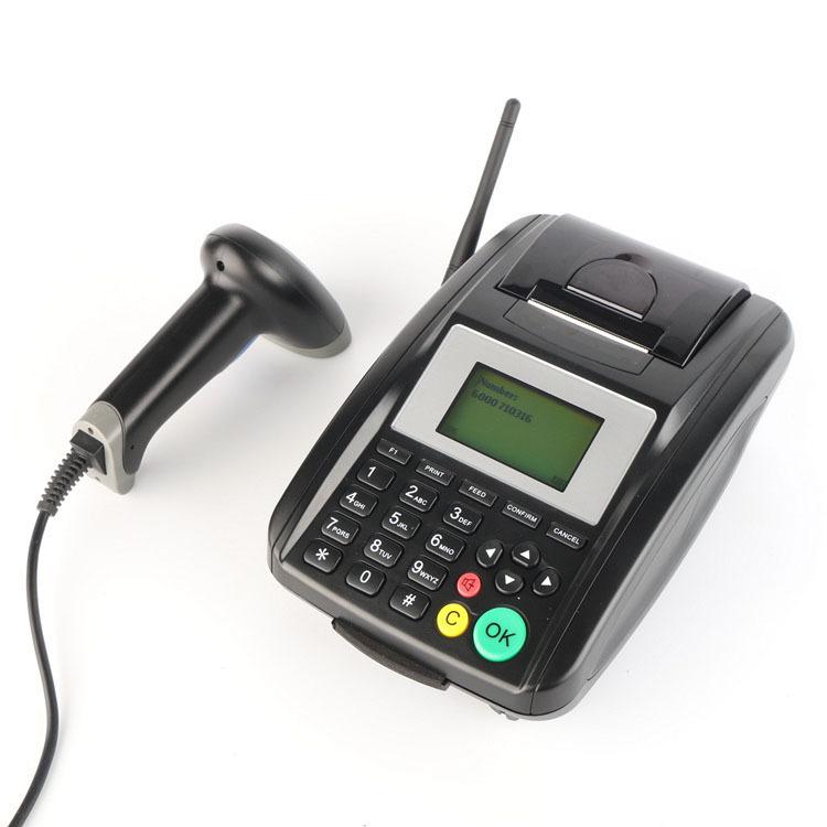 WIFI GPRS SMS QR code Barcode Scanner Card Swipe Machine Car Parking Ticket Printer