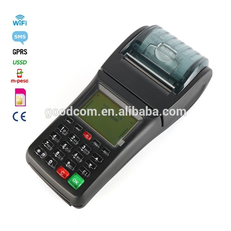 Goodcom Handheld POS Billing Payment Machine WIFI GPRS Water, Electricity,Airtime, Bus Ticket Printer