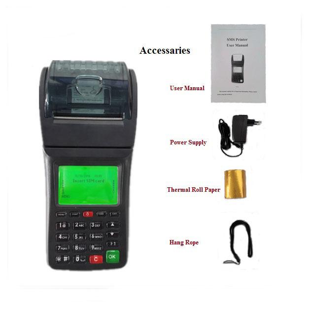 Handheld Wireless WIFI and GPRS Receipt Printer For Webserver Online Orders