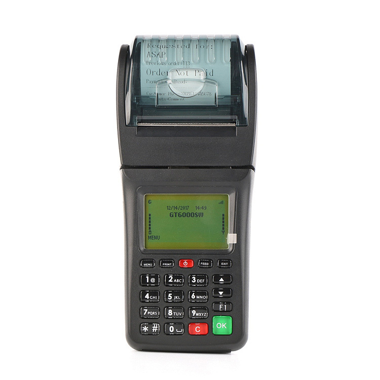 Handheld Bus Ticket Booking Machine Supports SMS GPRS WiFi Connectivities
