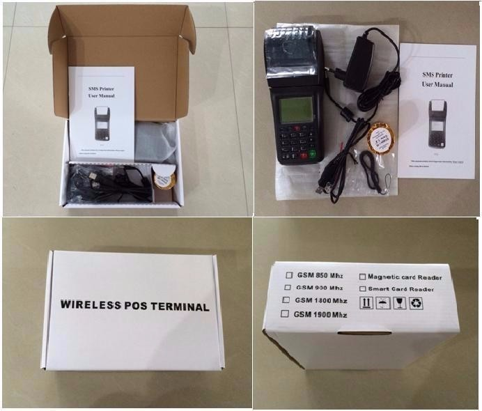 Factory SIM Card WIFI Bet pos Hand held smart terminal with printer