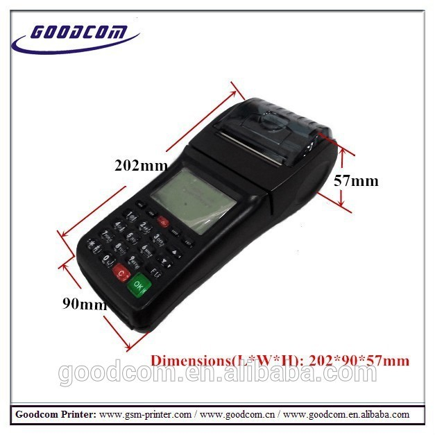 Goodcom GPRS SMS available Online Food Ordering Handheld WIFI POS Printer