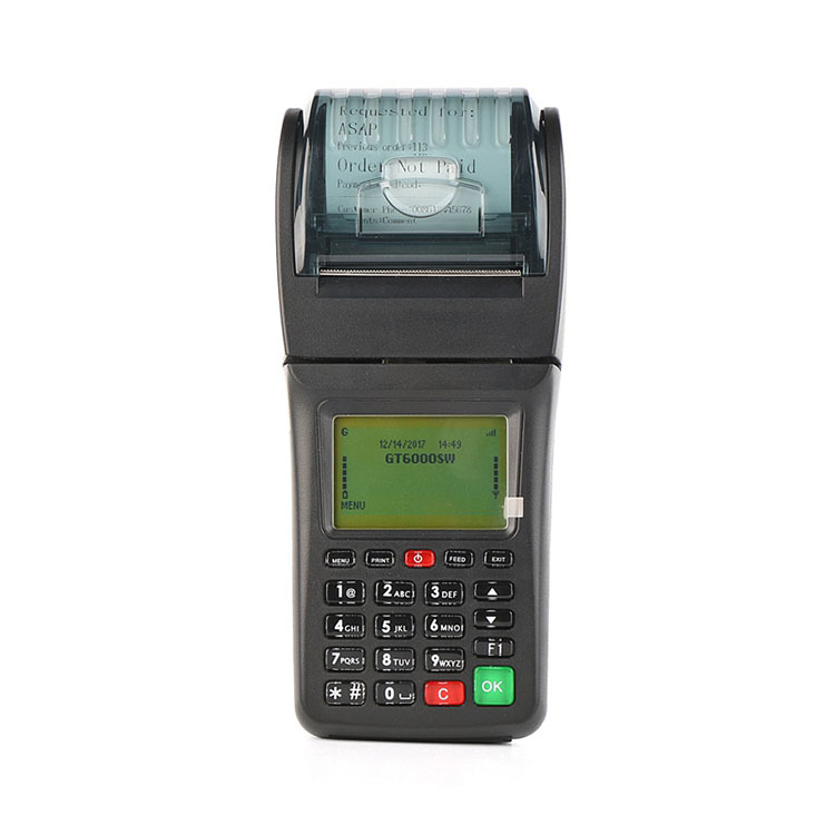 Handheld GSM SMS GPRS Wifi Printer Supports Pop3 Protocol for Email Order Printing