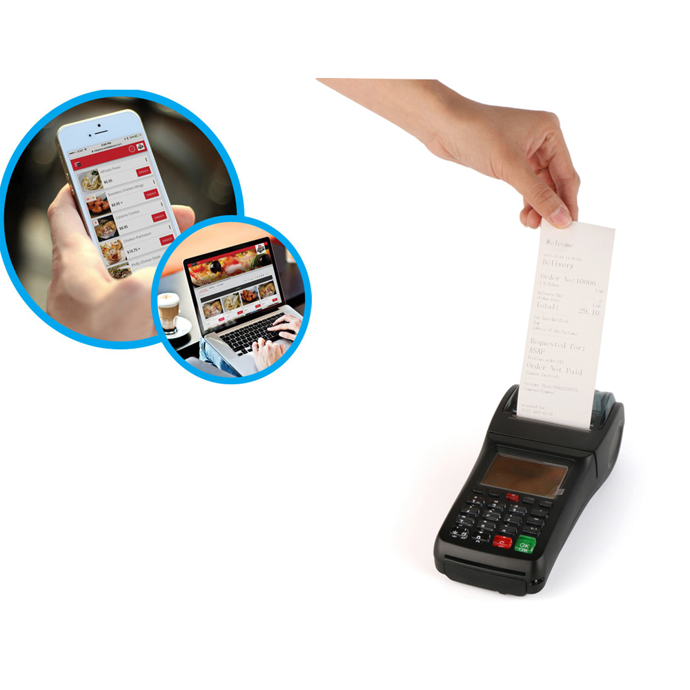 3G WIFI POS Terminal , Bill Payment Machine For Online Orders , POP3 mail orders printing,etc...