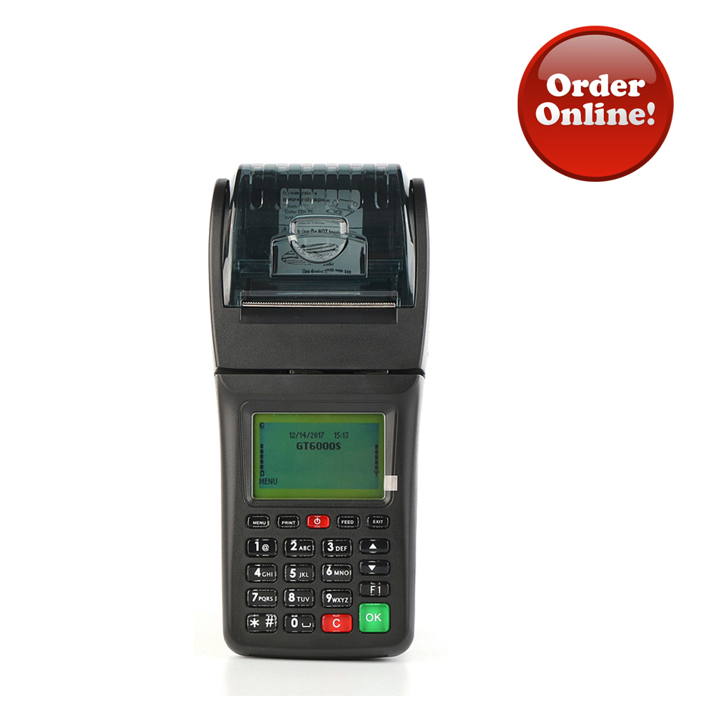 GPRS WIFI Restaurant Online Order Terminal Handheld Mobile POS With Printer