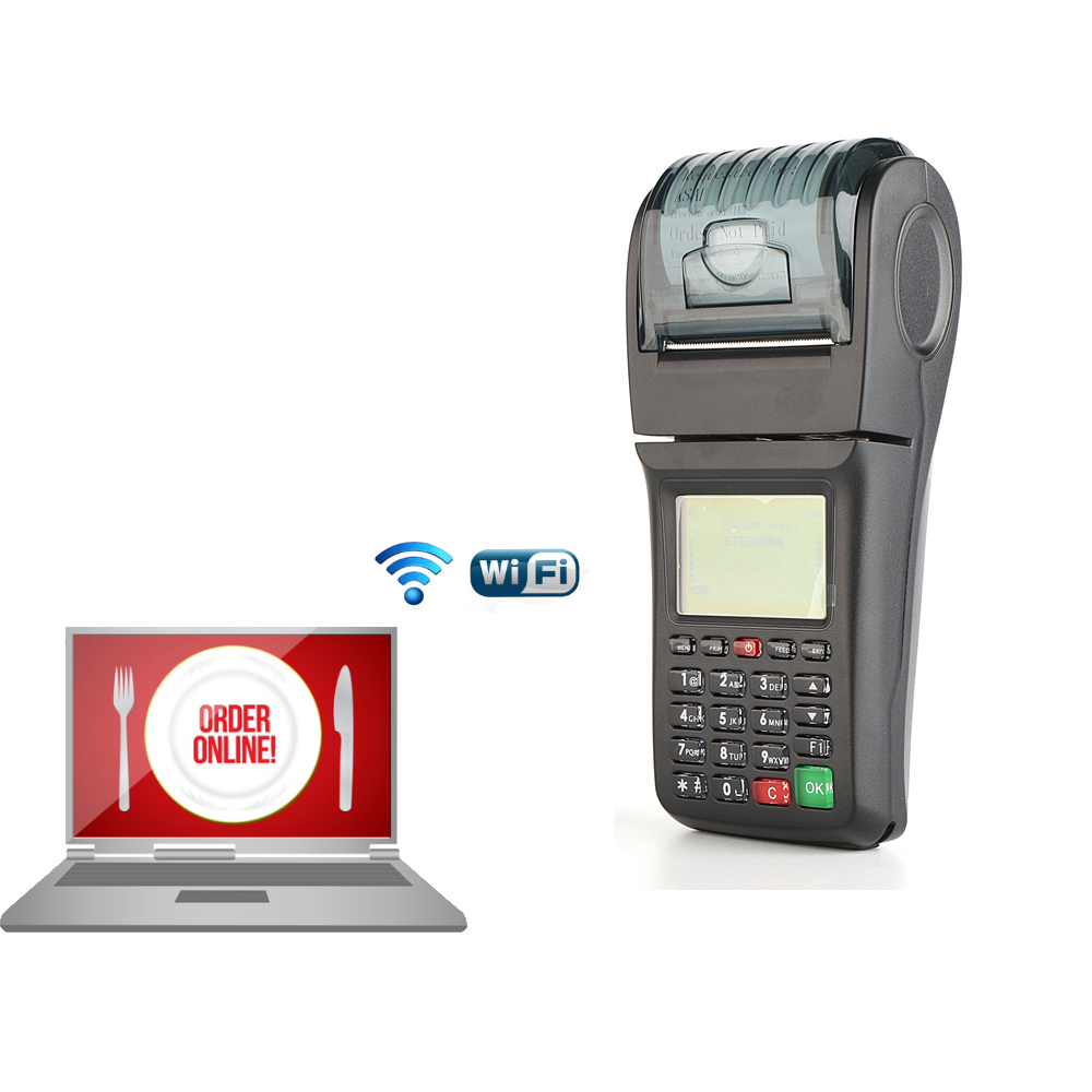 WIFI GPRS Thermal Receipt Mobile POS For Bill Payment Mobile Topup and Lotto bus Ticket printing