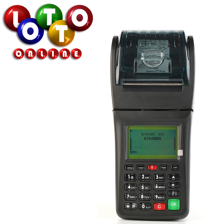 Mobile lottery ticket 3G WIFI smart pos machine sports betting terminal with software