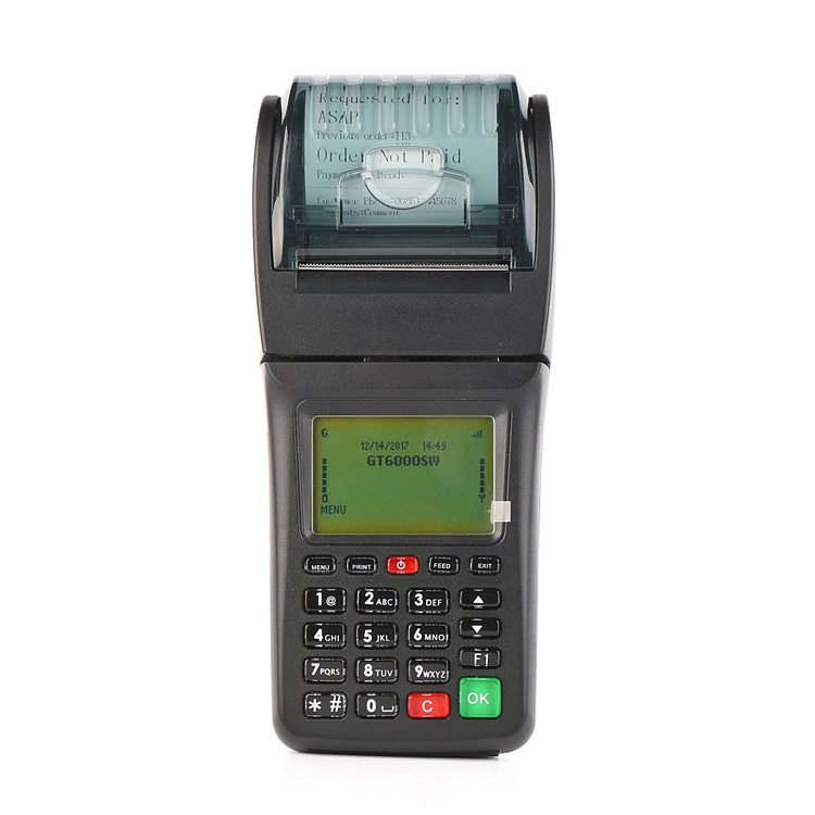 Handheld GPRS Wifi Ticket Printer Payment Terminal for Car Parking System