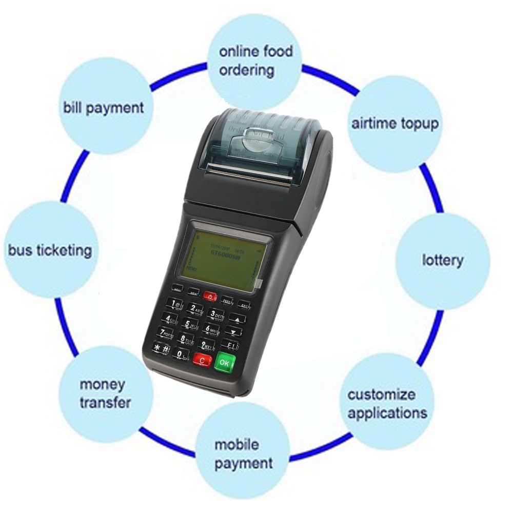 Handheld GPRS WIFI Mobile POS printer for Restaurant , Lottery, Topup , Bus ticket