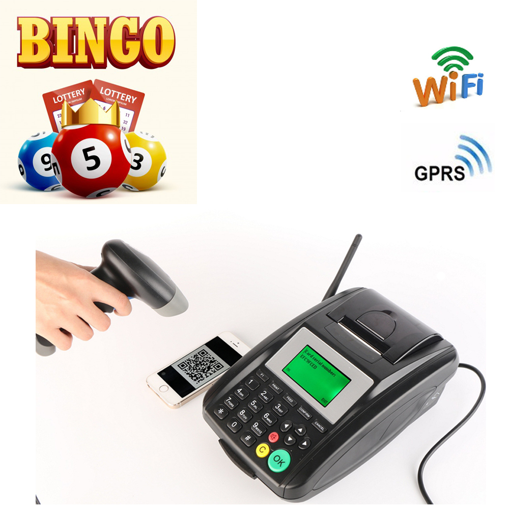 GT5000SW Goodcom GPRS and WIFI thermal Printer for Bingo Lotto, optional with barcode scanner