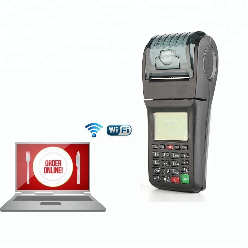 Handheld Wireless Restaurant 3G POS Terminal with Printer