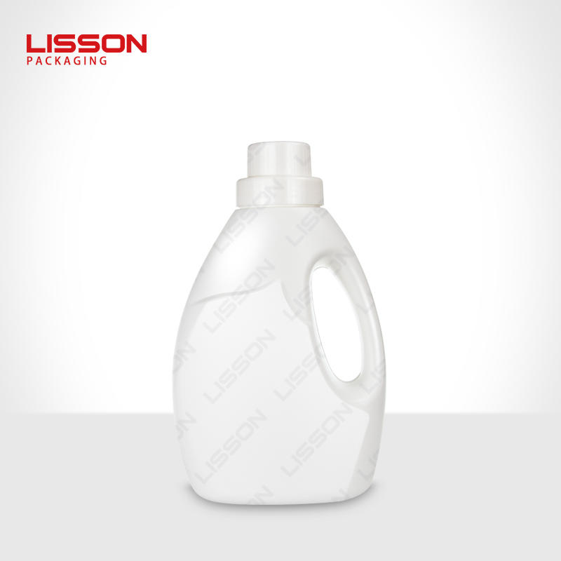 3-7 days delivery time 2L-4L OEM clear plastic HDPE square Laundry detergent bottle packaging