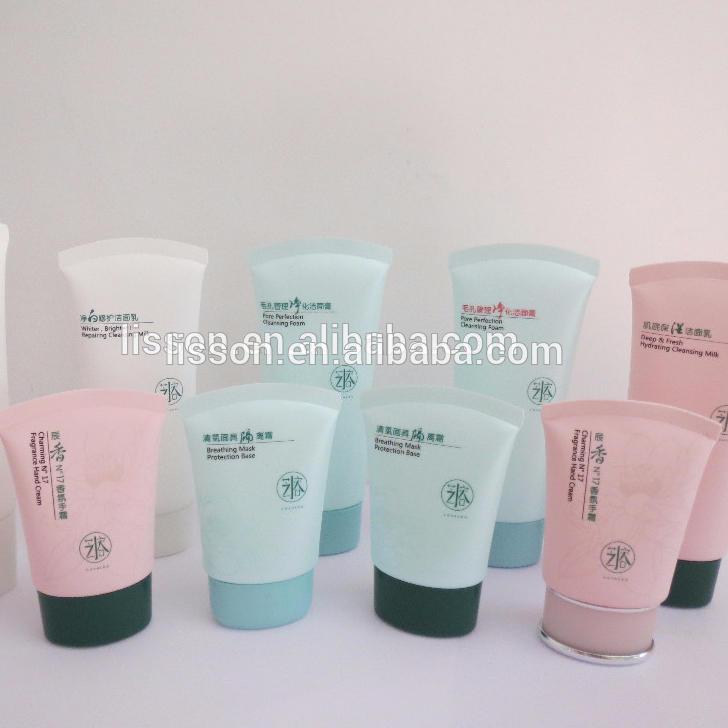 plastic cosmetic tube design for cream packaging