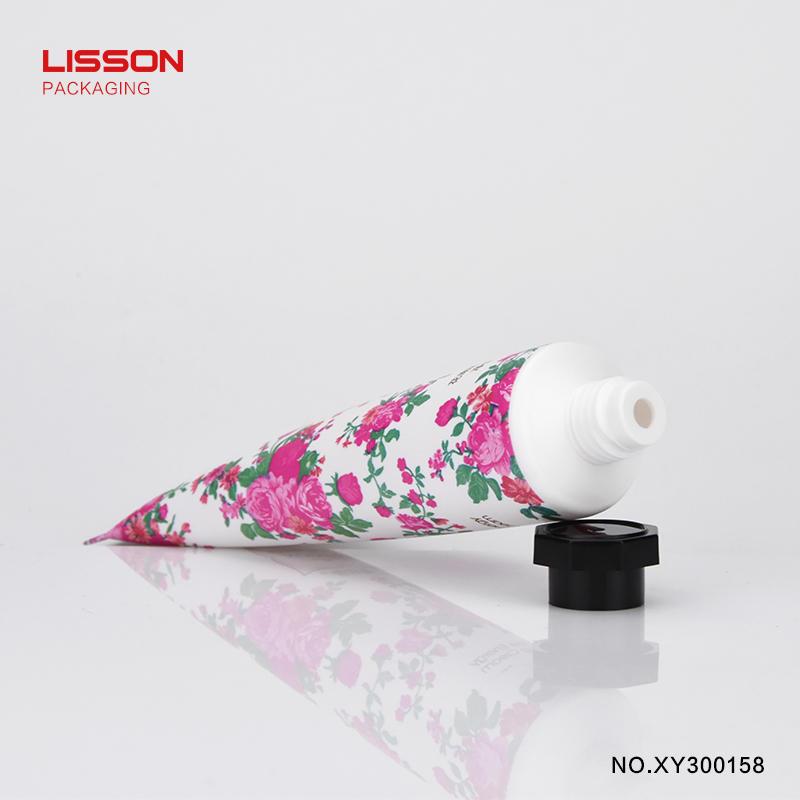 50g laminated plastic hand cream tube with octagonal cap