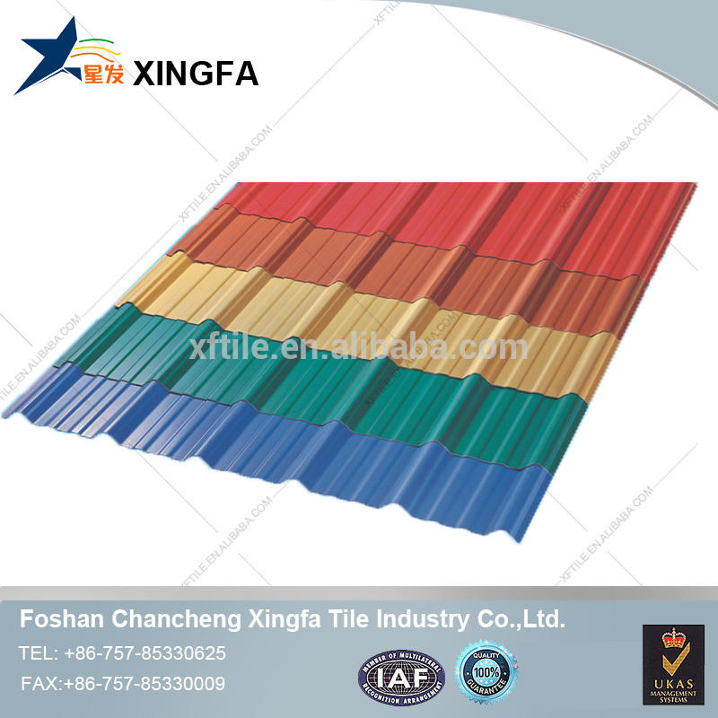 China supplier trapezoidal tile prepainted plastic building material