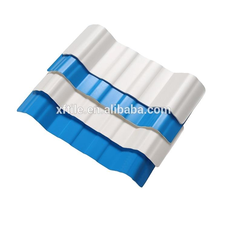 Roofing Tile Roof Sheets Corrugated Trapezoidal Plastic Material ASA PVC Sale Red White Blue Customized Industrial Surface Color