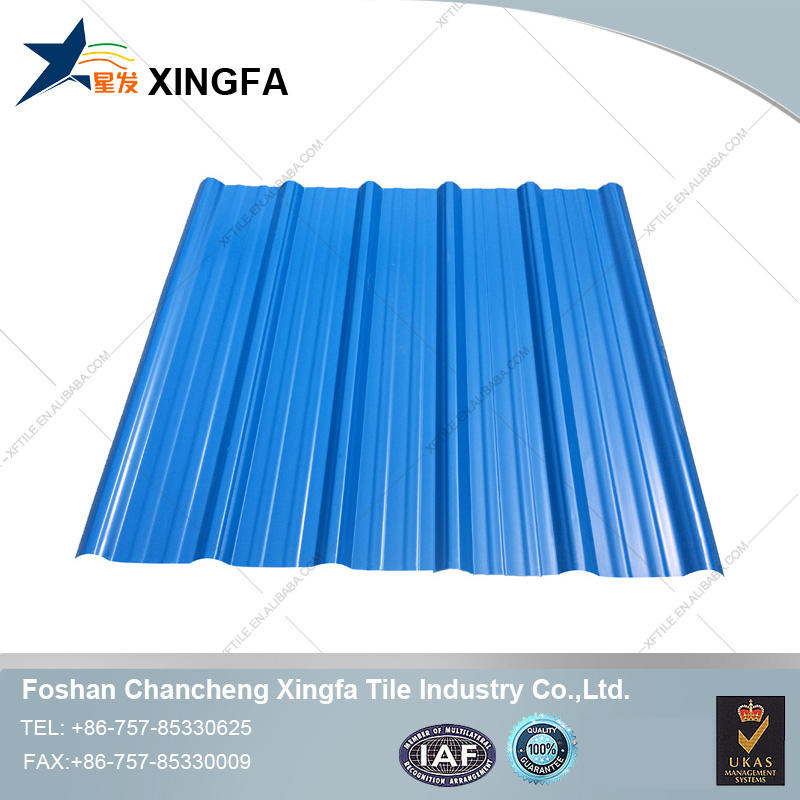 Extruding soundproof pvc ridge cap roof sheet
