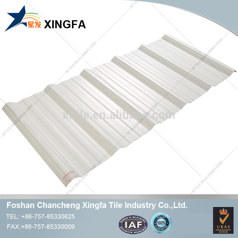 White upvc sheet / waterproof pvc panel roof / plastic roofing sheet for shed