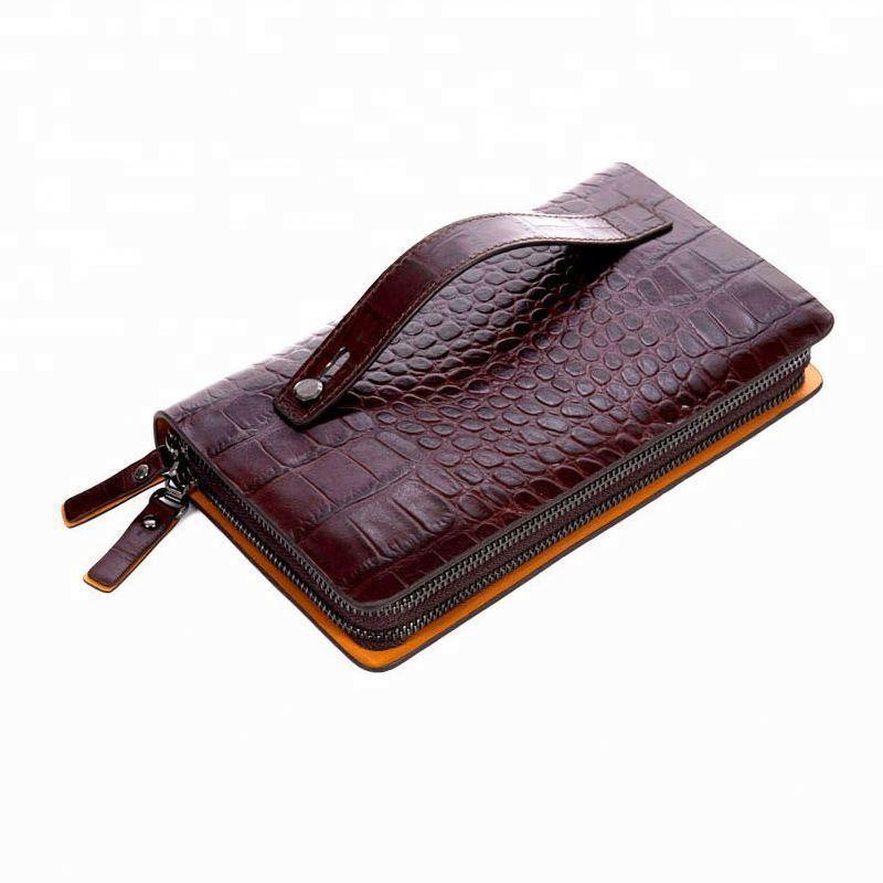2020 genuine leather clutch mens business handbag