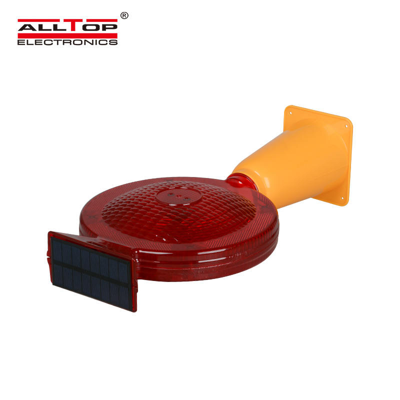 ALLTOP Most popular Led solar road traffic safety strobe warning light with factory price