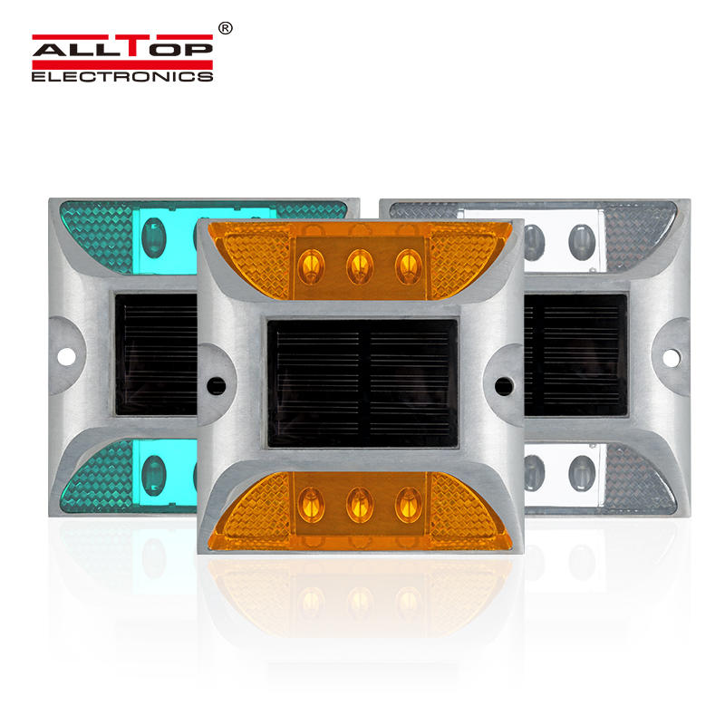 ALLTOP New design outdoor waterproof lighting fixture IP65 led solar road stud
