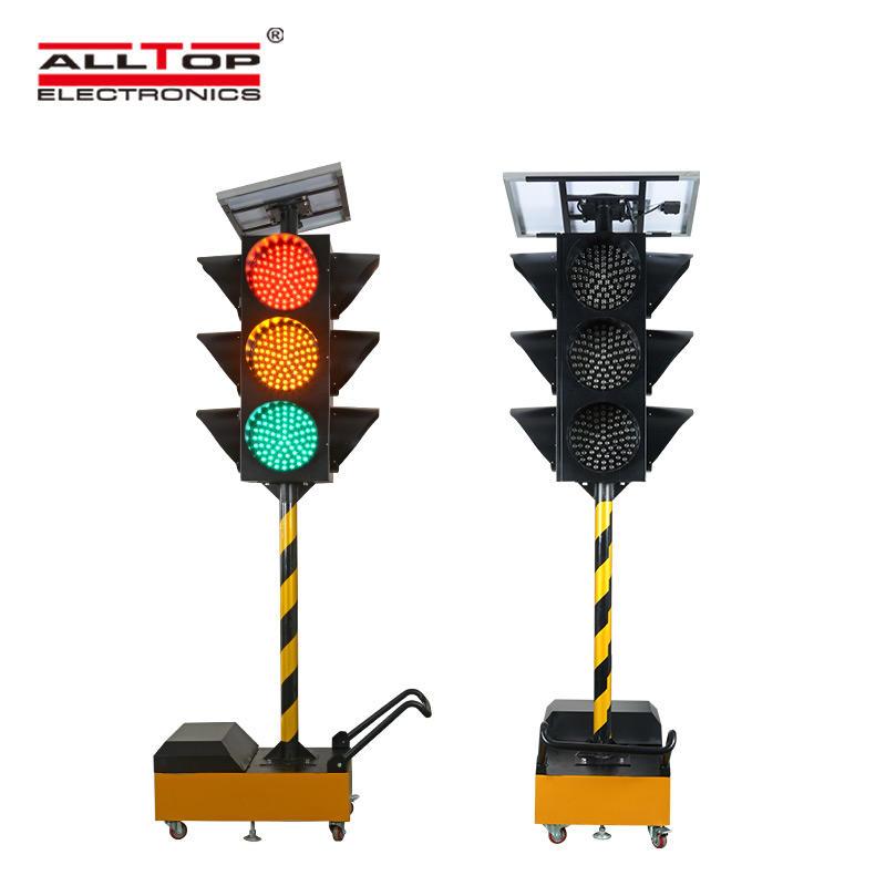 ALLTOP New Design IP65 LED Solar Warning Light Flashing Red Traffic Indicator Light