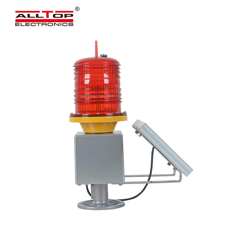 ALLTOP Aluminum solar powered led marine navigation aviation obstacle warning light