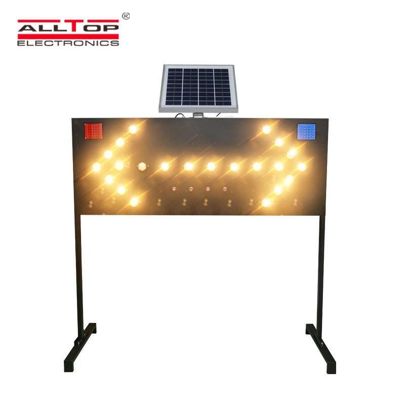 ALLTOP High Quality Solar Double Sides Flashing Signal Light Warning Strobe Lights Traffic Light