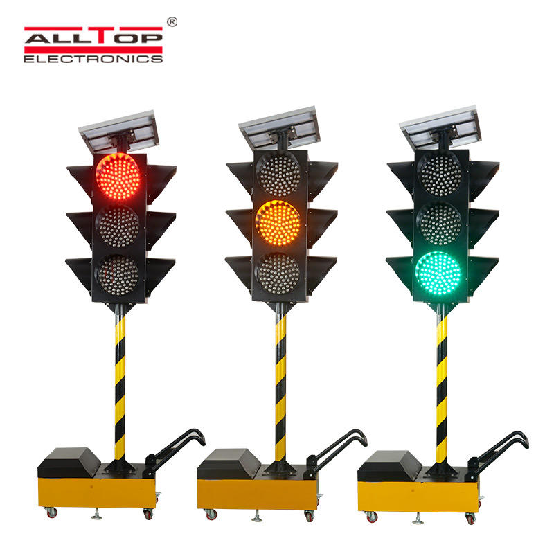 ALLTOP New Design IP65 LED Solar Warning Light Flashing Red Traffic Indicator Light