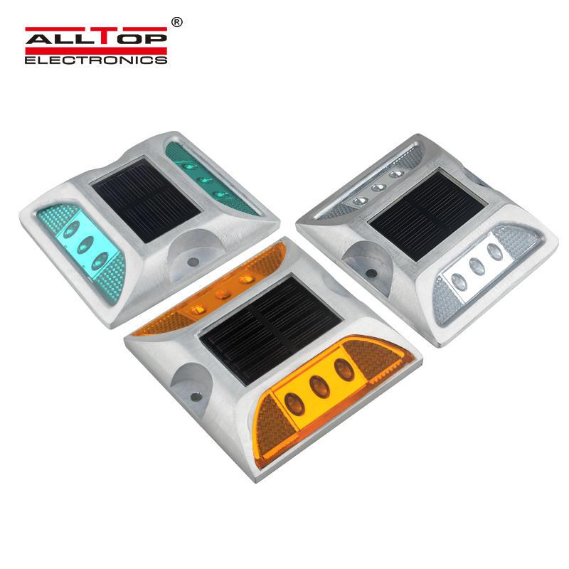 ALLTOP New design outdoor waterproof lighting fixture IP65 led solar road stud