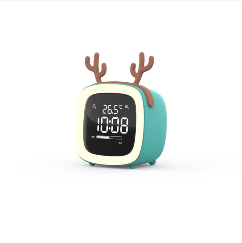 Digital LED Clock Alarm Learning Clock With Touch Sensing Date Temperature Night Light Cute Table clock