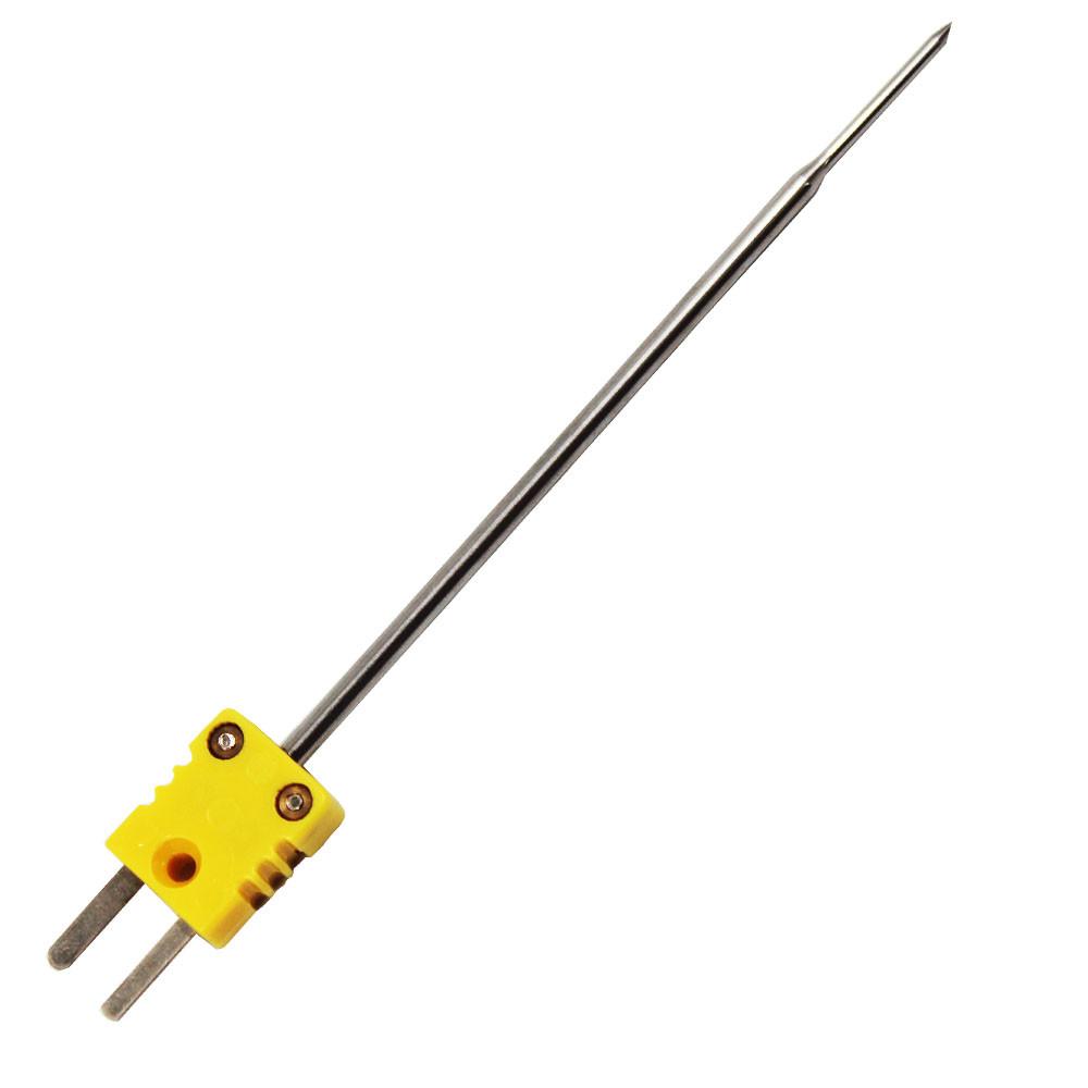 Needle type probe 6*150mm SS304 probe type k thermocouple food grade with yellow plug