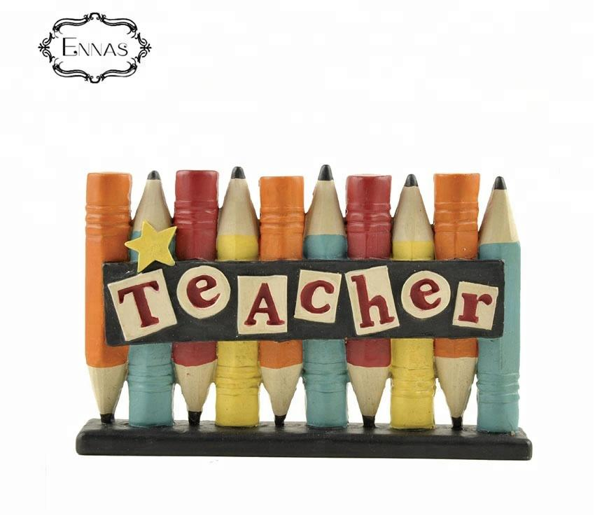 Gift to the Teacher Polyresin Pencil crafts Student Children's gift library art decoration