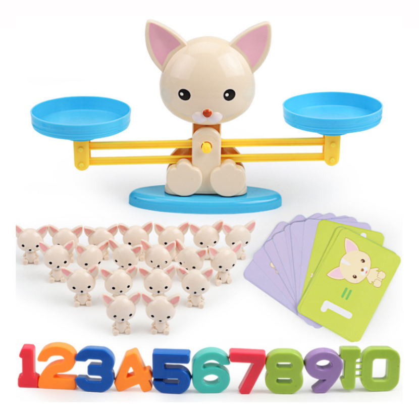 STEM Math Game Weighing Animal Monkey Puppy Pig Frog Balance Steam Educational Toys For Gift