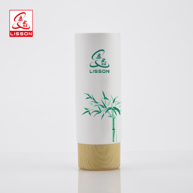 Eco-friendly Wood Cosmetic Wholesale Pe Tube Packaging With Wood Screw Cap