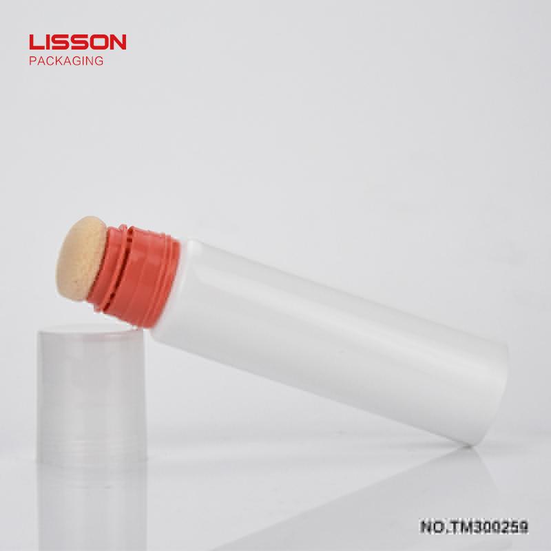 hands-free sponge applicator plastic tube plastic squeeze tubes with sponge applicator for cosmetics